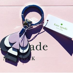 New Kate Spade Stacked Spade Keychain